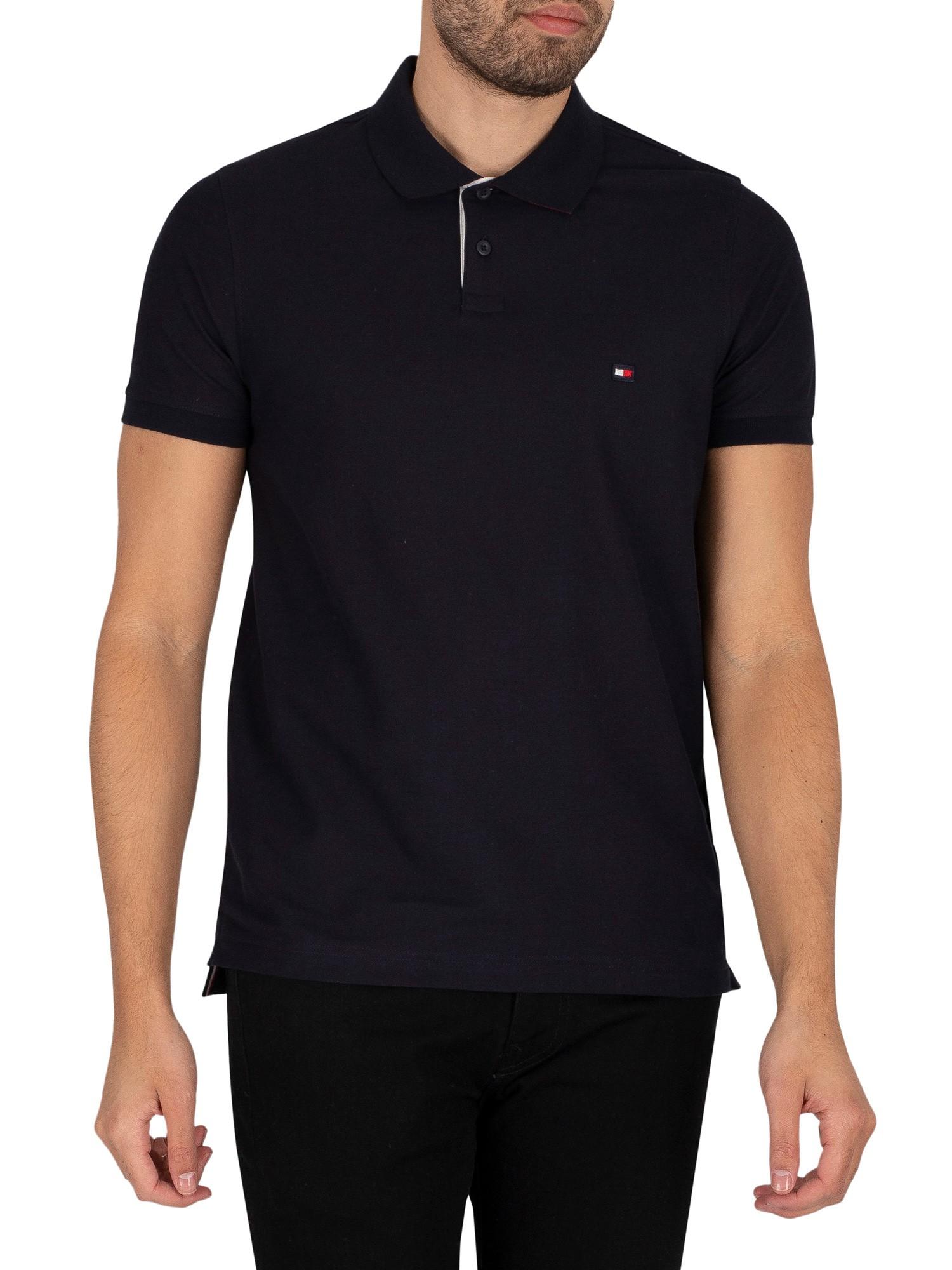 1985 Contrast Placket Slim Polo Shirt