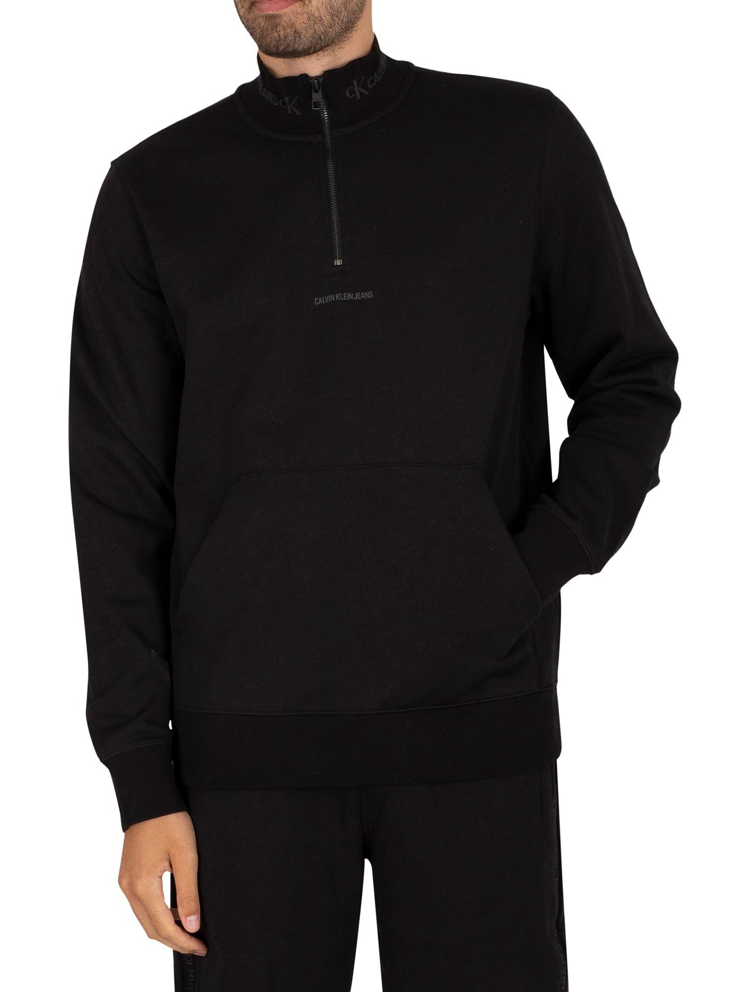 Logo-Jacquard-Mockneck-Sweatshirt