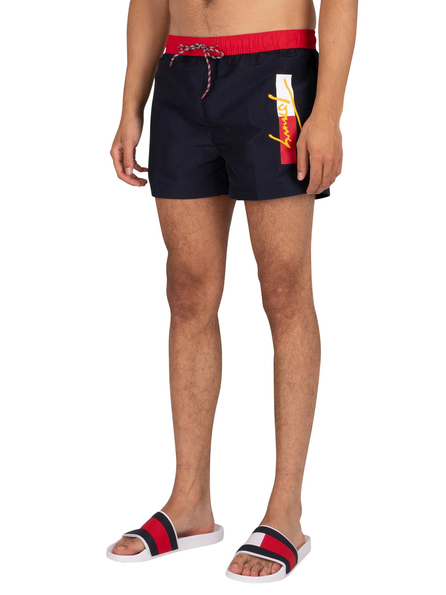 Short Drawstring Swim Shorts