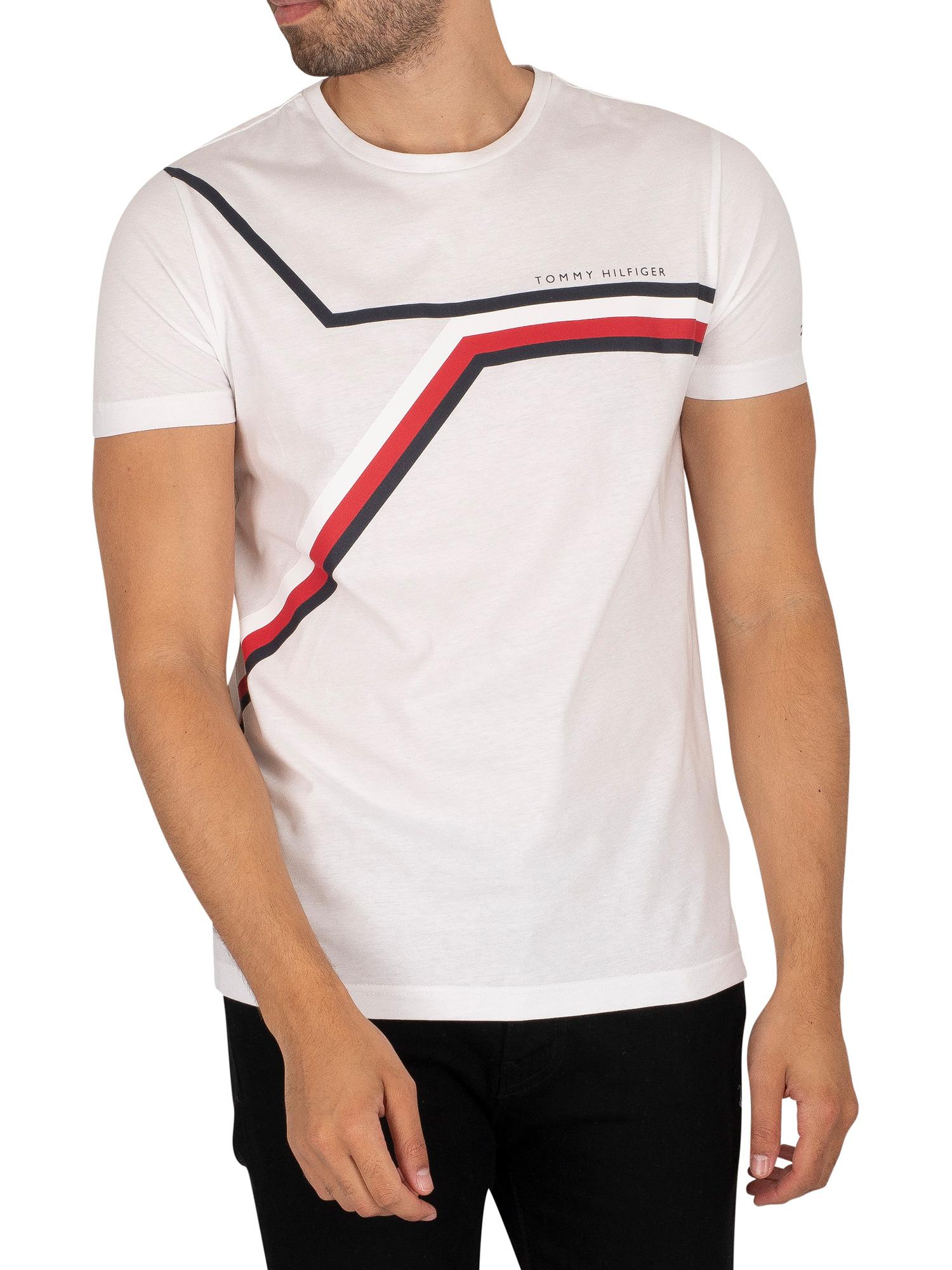 Split Chest Stripe T-Shirt