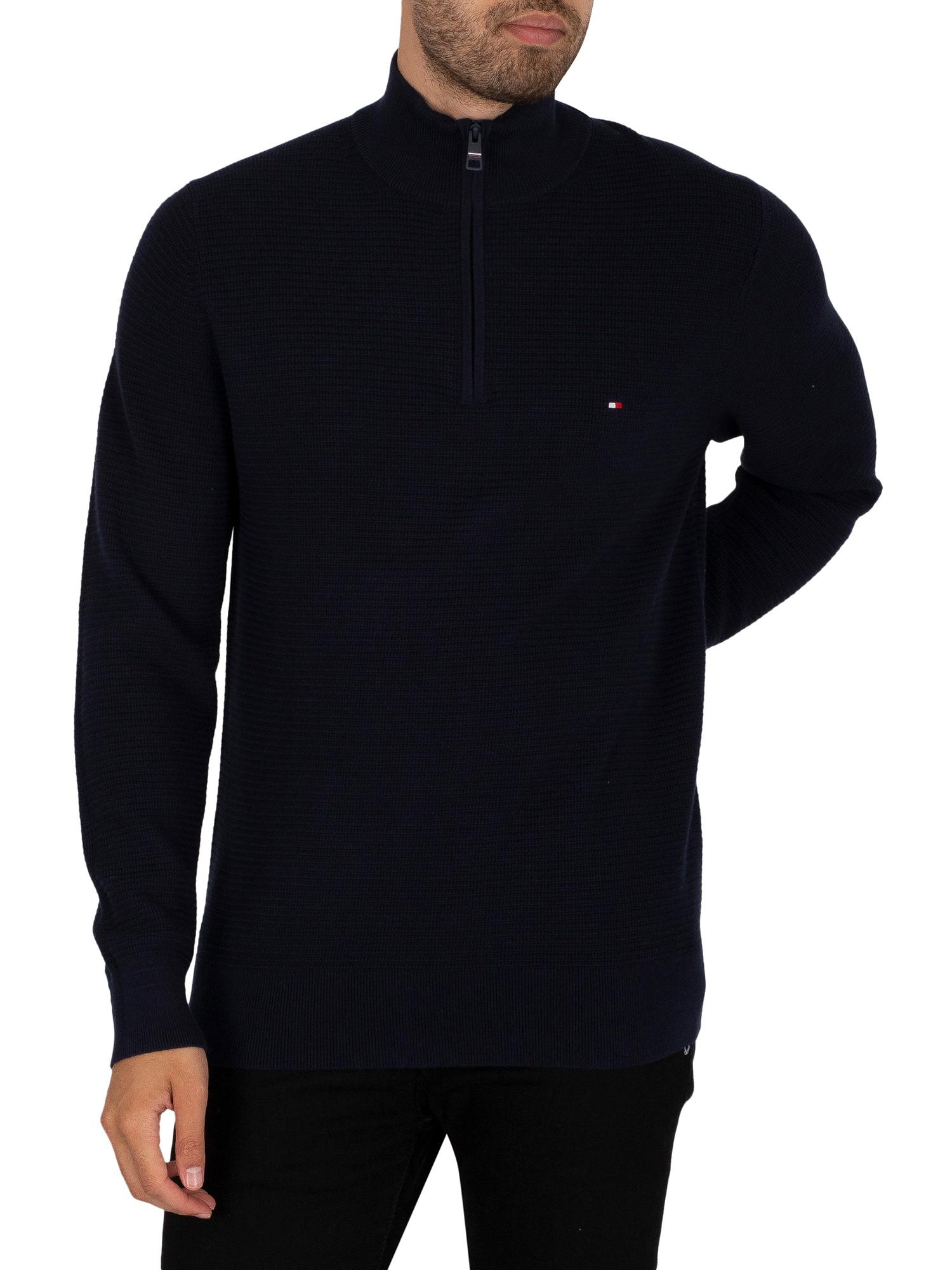 Structure Zip Mock Sweatshirt
