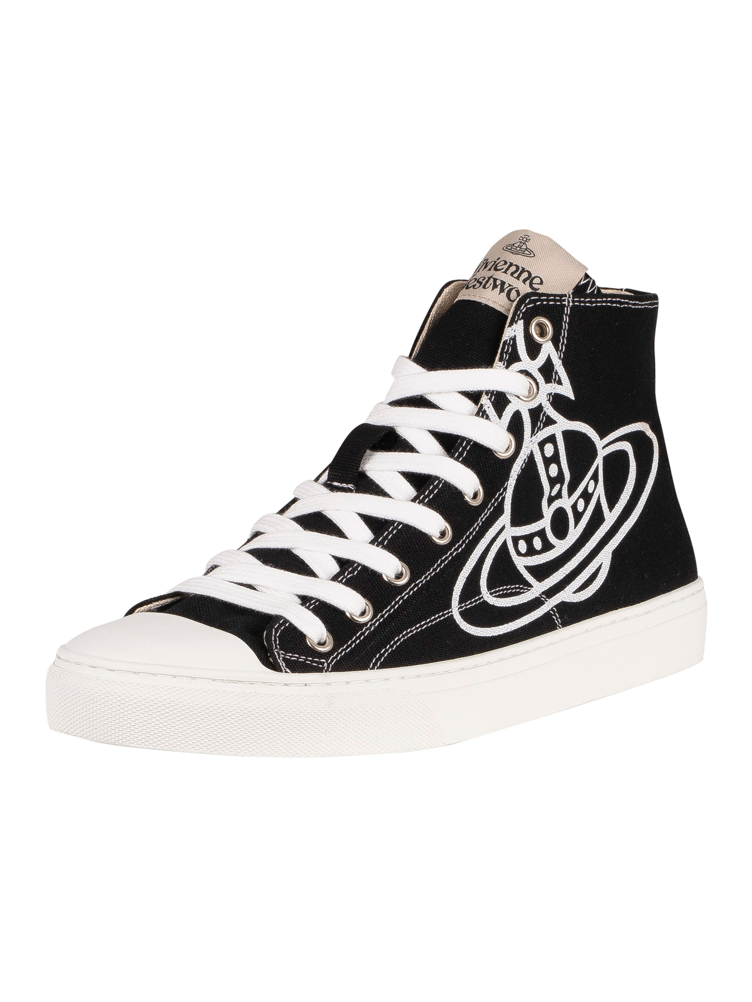 Plimsoll-High-Top-Canvas-Trainers