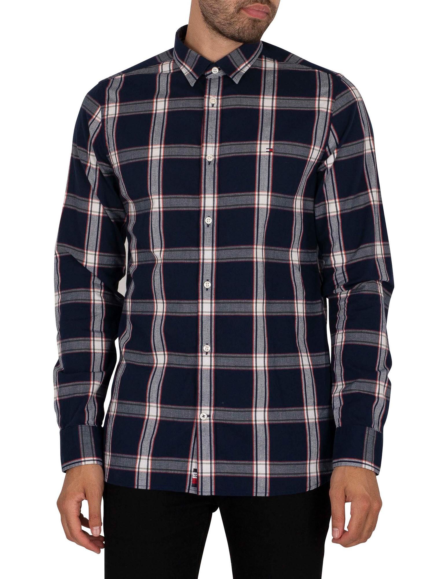 Slim Square Check Shirt
