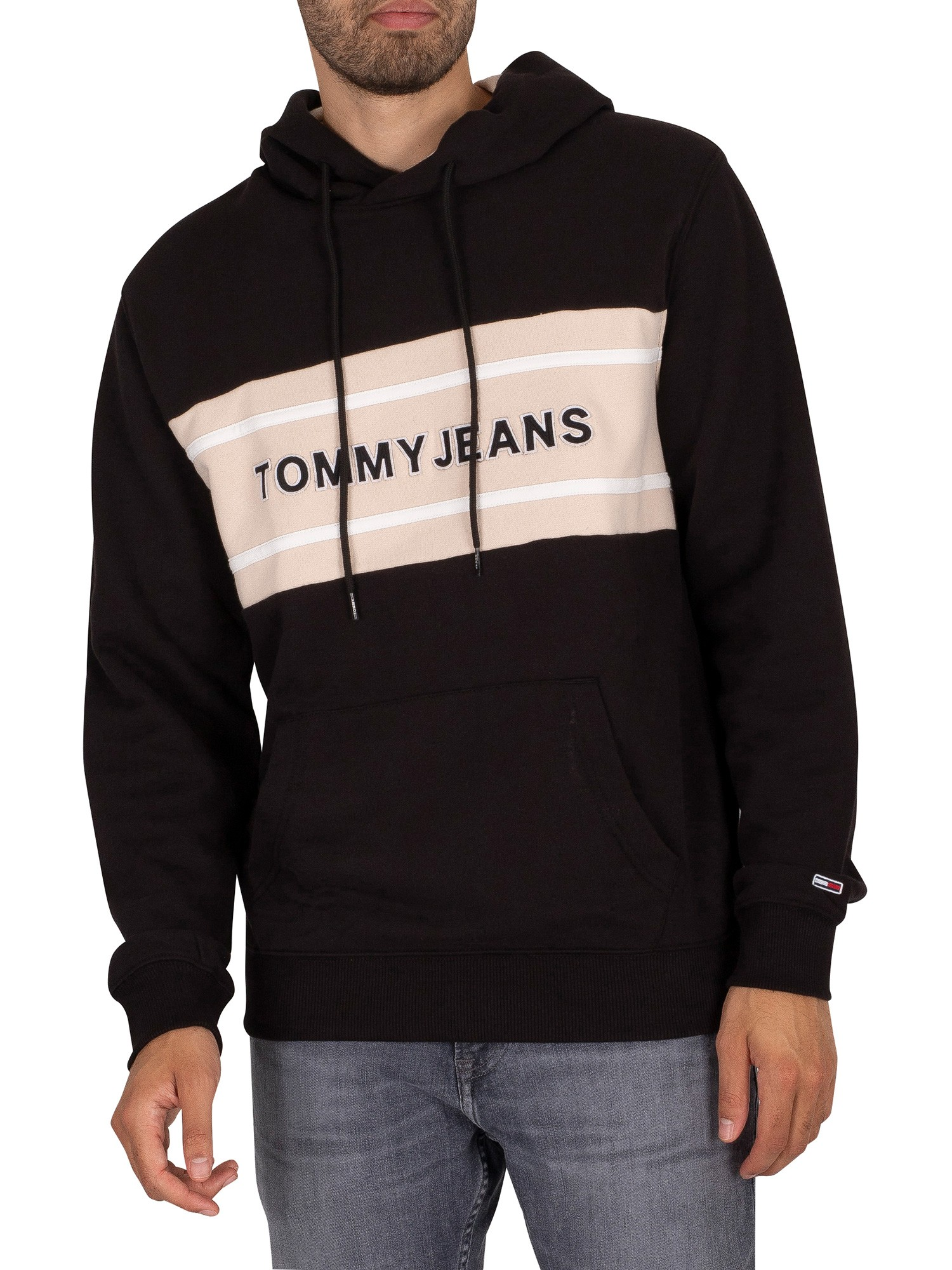 Clothing Pieced Band Logo Pullover Hoodie