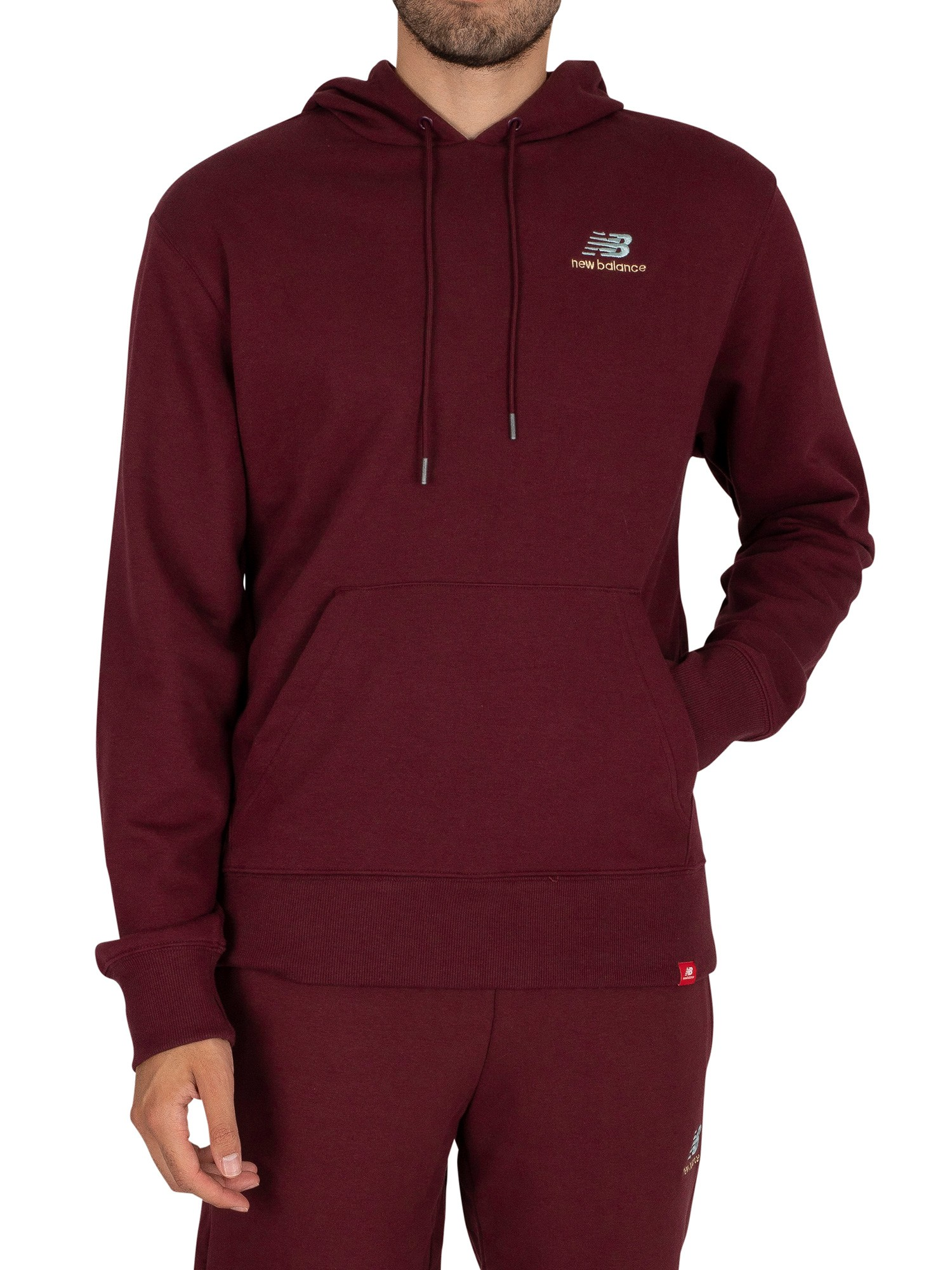 Essentials Embroidered Pullover Hoodie
