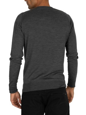 John Smedley Charcoal Marcus Crew Neck Knit