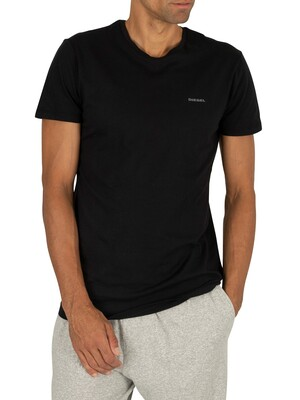 Diesel 3 Pack Jake Plain Logo T-Shirts - Black