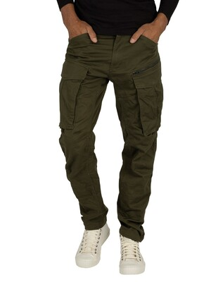 G-Star Rovic Zip 3D Straight Tapered Cargos - Dark Bronze Green