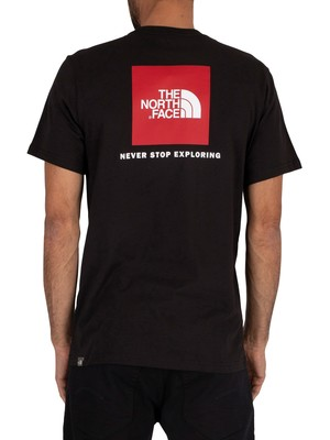 The North Face Red Box Logo T-Shirt - Black