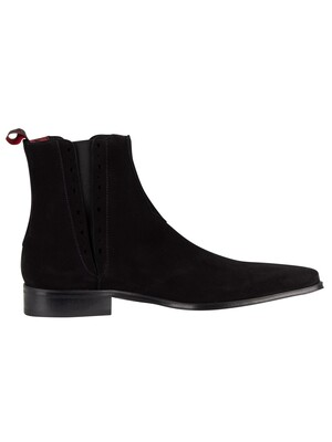 Jeffery West Black Suede Boots