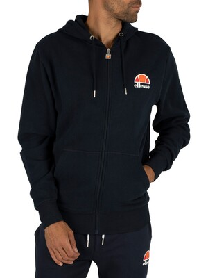 Ellesse Dress Blues Miletto Zip Logo Hoodie