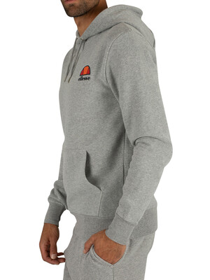 Ellesse Athletic Grey Marl Toce Left Logo Hoodie