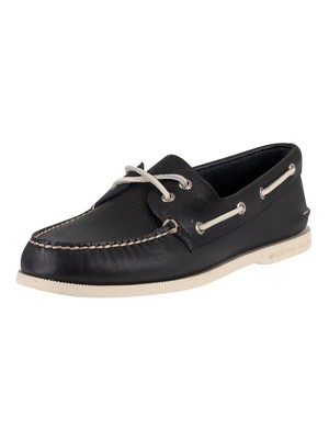 Sperry Top-Sider A/O 2 Eye Slip On Boat Shoes - Navy