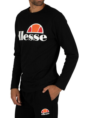 Ellesse Anthracite Grazie Longsleeved Graphic T-Shirt