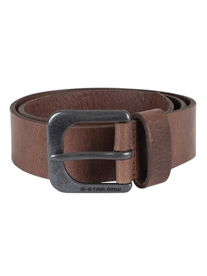 G-Star Dark Brown/Black Metal Zed Belt