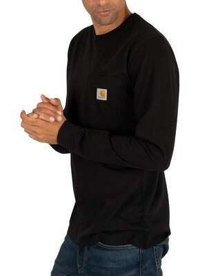 Carhartt WIP Black Longsleeved Pocket T-Shirt