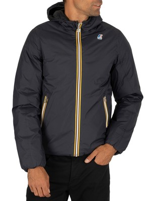 K-Way Jacques Thermo Plus Reversible Jacket - Depth Blue/Black