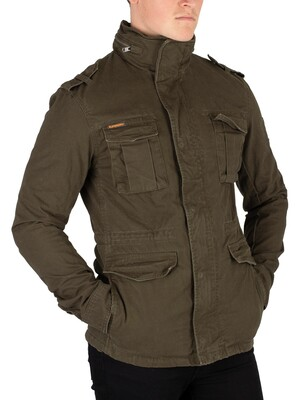 Superdry Dark Khaki Rookie Heavy Weather Field Jacket