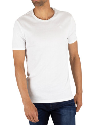 G-Star 2 Pack Slim Crew T-Shirts - White