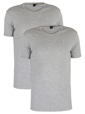 G-Star 2 Pack Slim Crew T-Shirts - Grey