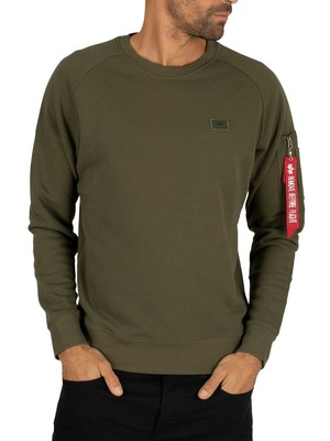 Alpha Industries X-Fit Sweatshirt - Dark Green