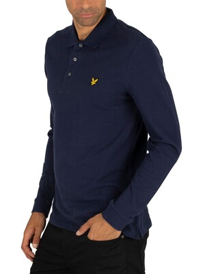 Lyle & Scott Longsleeved Poloshirt - Navy