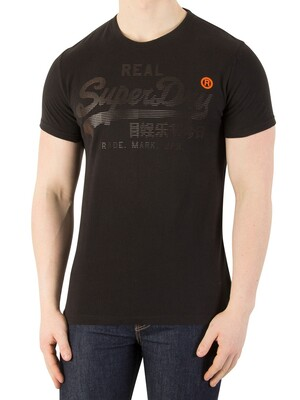 Superdry Real Logo 1st T-Shirt - Half Time Black