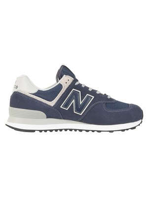 New Balance 574 Trainers - Navy