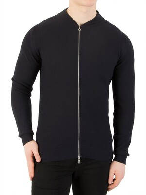 John Smedley 6.Singular Honeycomb Jacket - Midnight