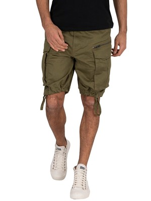 G-Star Rovic Zip Loose Cargo Shorts - Sage