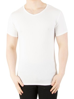 Tommy Hilfiger 3 Pack Premium Essentials V-Neck T-Shirts - White