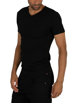 Tommy Hilfiger 3 Pack Premium Essentials V-Neck T-Shirts - Black