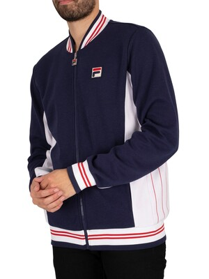 Fila Settanta Zip Track Jacket  - Peacoat/White/Chinese Red