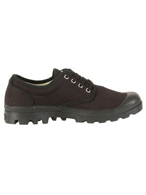 Palladium Pampa OX Original Trainers  - Black/Black