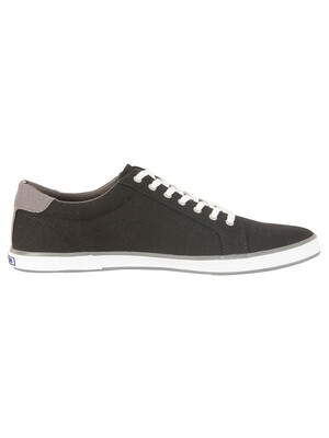 Tommy Hilfiger Flag Canvas Trainers - Black