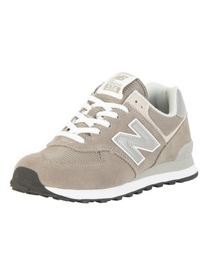 New Balance 574 Suede Trainers - Grey