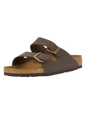 Birkenstock Arizona Birko-Flor Sandals - Dark Brown