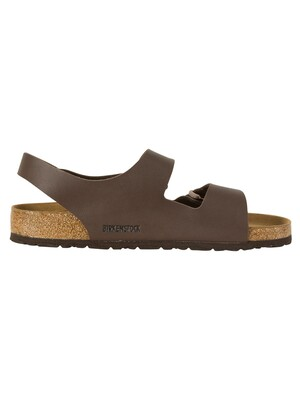 Birkenstock Milano Birko-Flor Sandals - Dark Brown