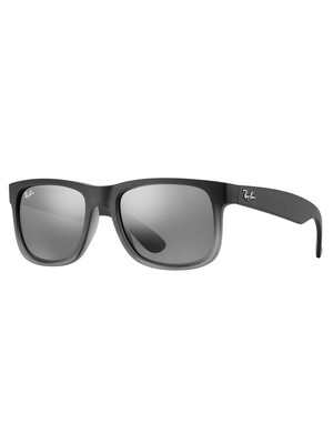 Ray-Ban Justin Sunglasses - Silver Gradient Mirror