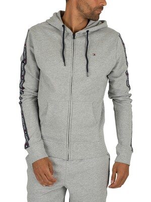 Tommy Hilfiger Zip Logo Tapping Hoodie - Grey Heather