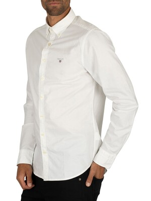 Gant White The Slim Oxford Shirt
