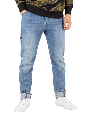 G-Star Lanc 3D Straight Tapered Jeans - Aged Heavy Stone
