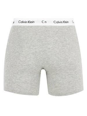 Calvin Klein 3 Pack Cotton Stretch Boxer Briefs - Black/White/Grey Heather