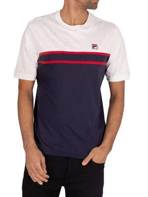 Fila Baldi T-Shirt - Peacoat/White/Red