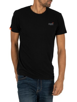 Superdry Orange Label Vintage EMB T-Shirt - Black