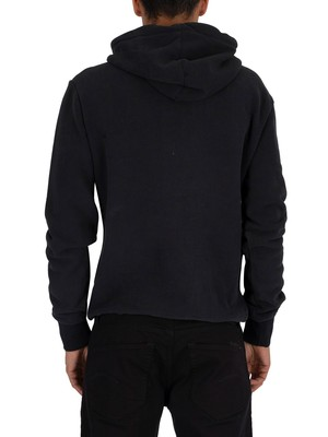 Superdry Sweat Shirt Shop Duo Pullover Hoodie - Eclipse Navy