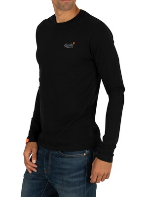 Superdry Vintage Embroidery Longsleeved T-Shirt - Black