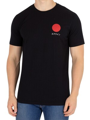 Edwin Black Garment Washed Japanese Sun T-Shirt