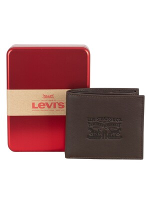 Levi's Vintage Two Fold Bifold Wallet - Dark Brown
