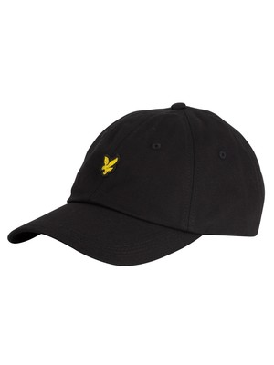 Lyle & Scott Cotton Twill Baseball Cap - True Black